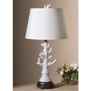 uttermost coral glossy white table lamp today save 4. Black Bedroom Furniture Sets. Home Design Ideas