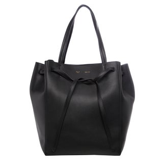 Celine Medium 'Cabas Phantom' Black Grainy Leather Tote