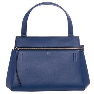Celine 'Edge' Indigo Leather Shoulder Bag