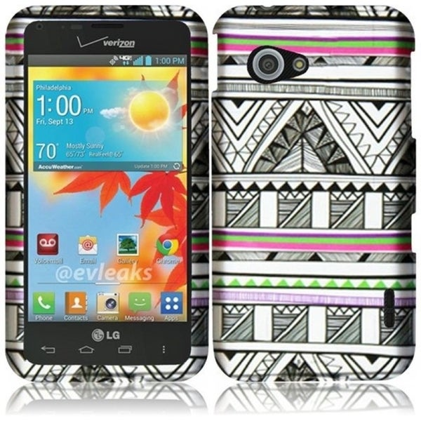 INSTEN Hard Plastic Protective Design Cover Phone Case Cover for LG Enact VS890