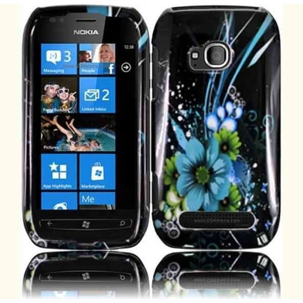 INSTEN Hard Plastic Protective Design Cover Phone Case Cover for Nokia Lumia 710