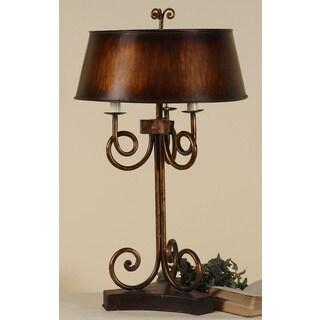 Uttermost Skyler Antiqued Gold Leaf Metal Table Lamp