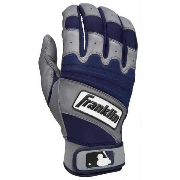 MLB Franklin Sports Navy/ Grey Youth Natural Batting Gloves