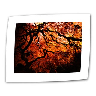 John Black 'Fire Breather: Japanese Tree' Unwrapped Canvas