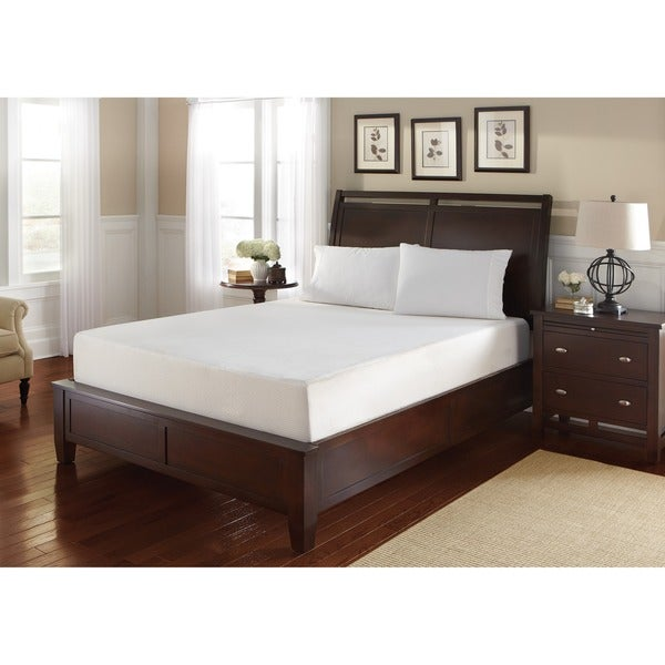WHITE by Sarah Peyton 8-inch Queen-size Gel Convection Cooled Memory Foam Mattress