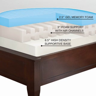 Sarah Peyton White 12-inch California King-size Gel Memory Foam Mattress