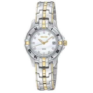 Seiko Women's SXDA32 Diamond Two-Tone Watch