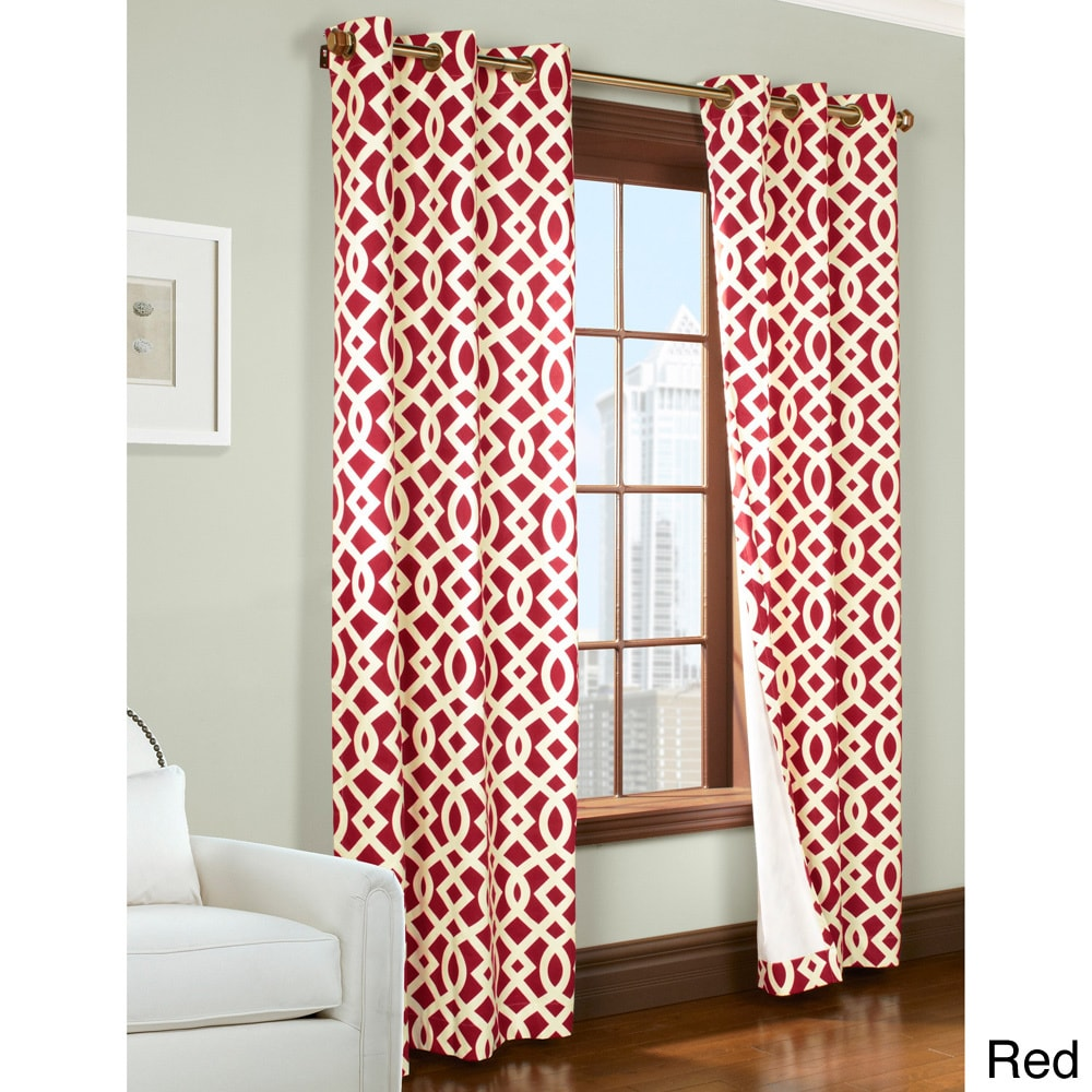 1cheap Trellis Printed Thermal Insulated Curtain Panel Pair Cheap Window Treatments
