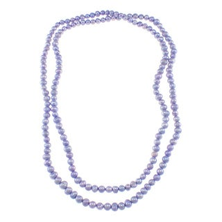 Pearlz Ocean Lavender Freshwater Pearl Endless Necklace (7-8 mm)