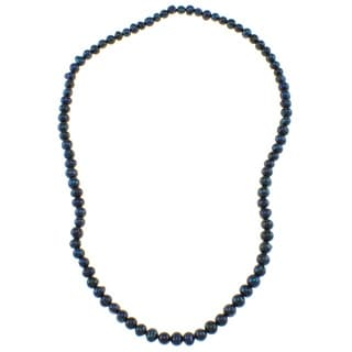 Pearlz Ocean Deep Blue Freshwater Pearl Endless Necklace (7-8 mm)