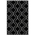 Devonshire Black Wool Rug (5' x 8')