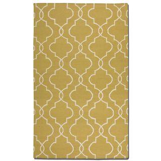 Uttermost Devonshire Ikat Gold Wool Rug (8' x 10')
