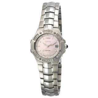 Seiko Women's SXD691 Coutura Diamond Silvertone Watch
