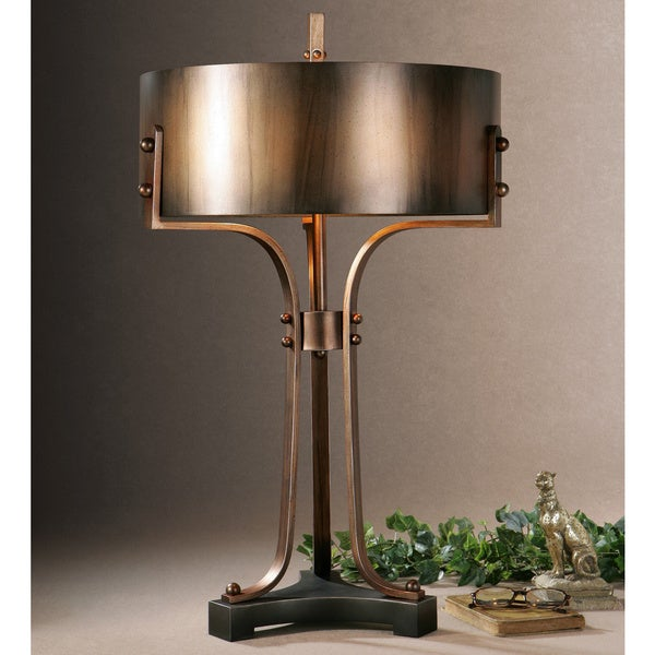 Uttermost Akron Washed Copper Metal Table Lamp
