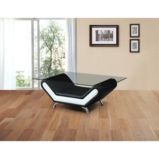 Christina Two-tone Leather Coffee Table
