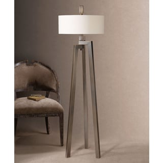 Mondovi Metal Fabric Floor Lamp