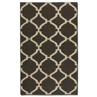 Bermuda Charcoal Wool Rug (8x10)