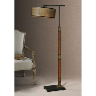 Allendale Metal Fabric Wood Floor Lamp
