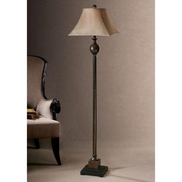 Uttermost villaga rustic floor lamp for Cirrus bronze floor lamp