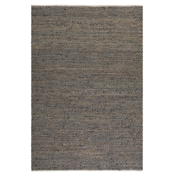 Uttermost Tobias Recycled Brown Leather Rug (8x10)