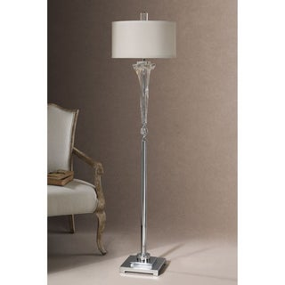 Grancona Glass Metal Fabric Crystal Floor Lamp