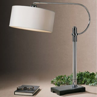 Uttermost Adara Hook Polished Chrome Table Lamp