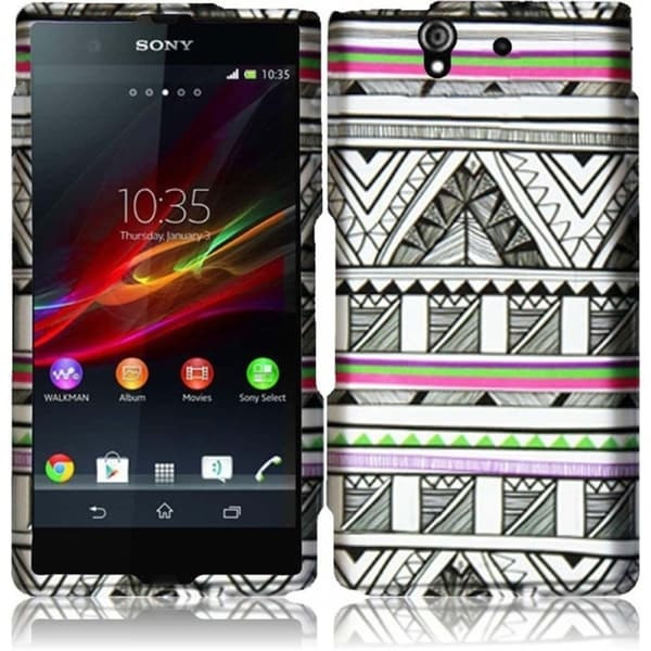 INSTEN Hard Plastic Protective Rubberized Phone Case Cover for Sony Xperia Z1