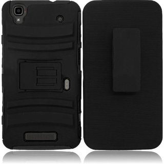 BasAcc Dual Layered Stand Hybrid Cover Case for ZTE Max N9520