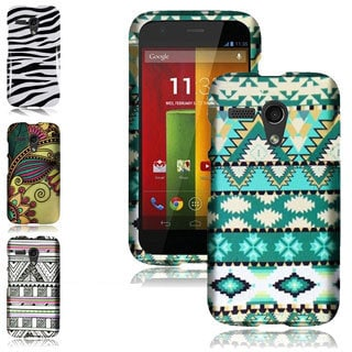 BasAcc Hard Plastic Protective Rubberized Cover Case for Motorola Moto G