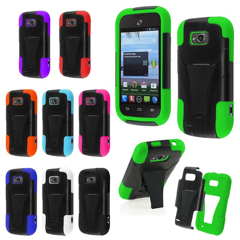BasAcc Dual Layered Stand Hybrid Cover Case for ZTE Savvy Z750c