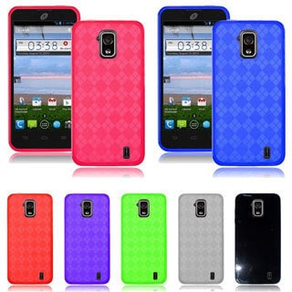 INSTEN Colorful TPU Rubber Gel Skin Cover Phone Case Cover for ZTE Solar Z795g