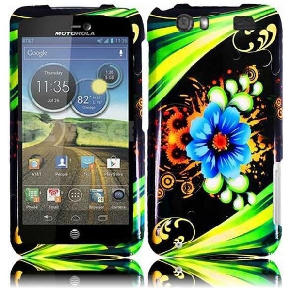 INSTEN Plastic Protective Design Cover Phone Case Cover for Motorola Atrix 3 MB886 Atrix HD