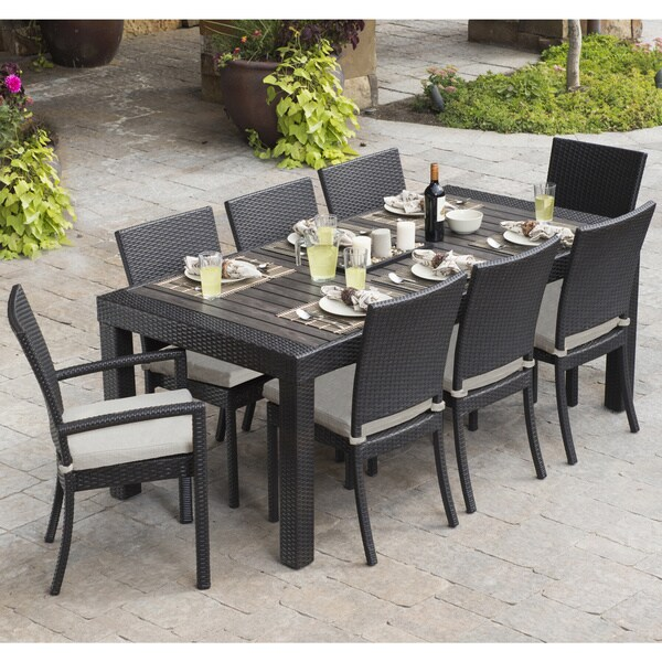 RST Brands Deco 9 piece Dining Set Patio Furniture