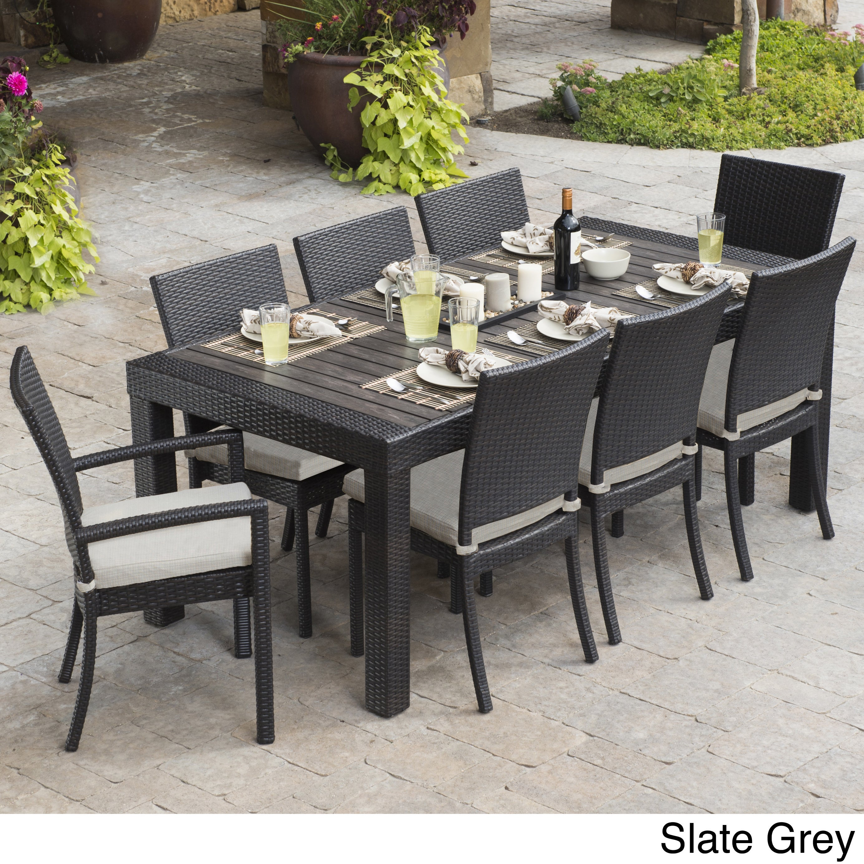 Rst Brands Deco 9 Piece Dining Set Patio Furniture Overstock Shopping Big Discounts On Rst