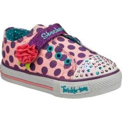 Girls' Skechers Twinkle Toes Shuffles Rosey Girl Pink/Purple