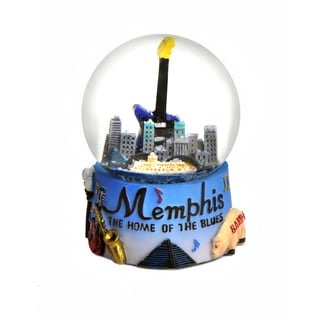 Memphis 'Home of the Blues' Snow Globe (65 mm)