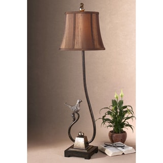 Peaceful Resin and Fabric Floor Lamp