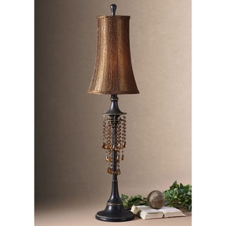 Ellenton Resin Metal Glass Fabric Floor Lamp