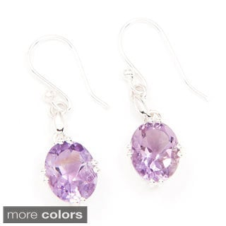 Sitara Hand-crafted Sterling Silver Gemstone Earrings (India)