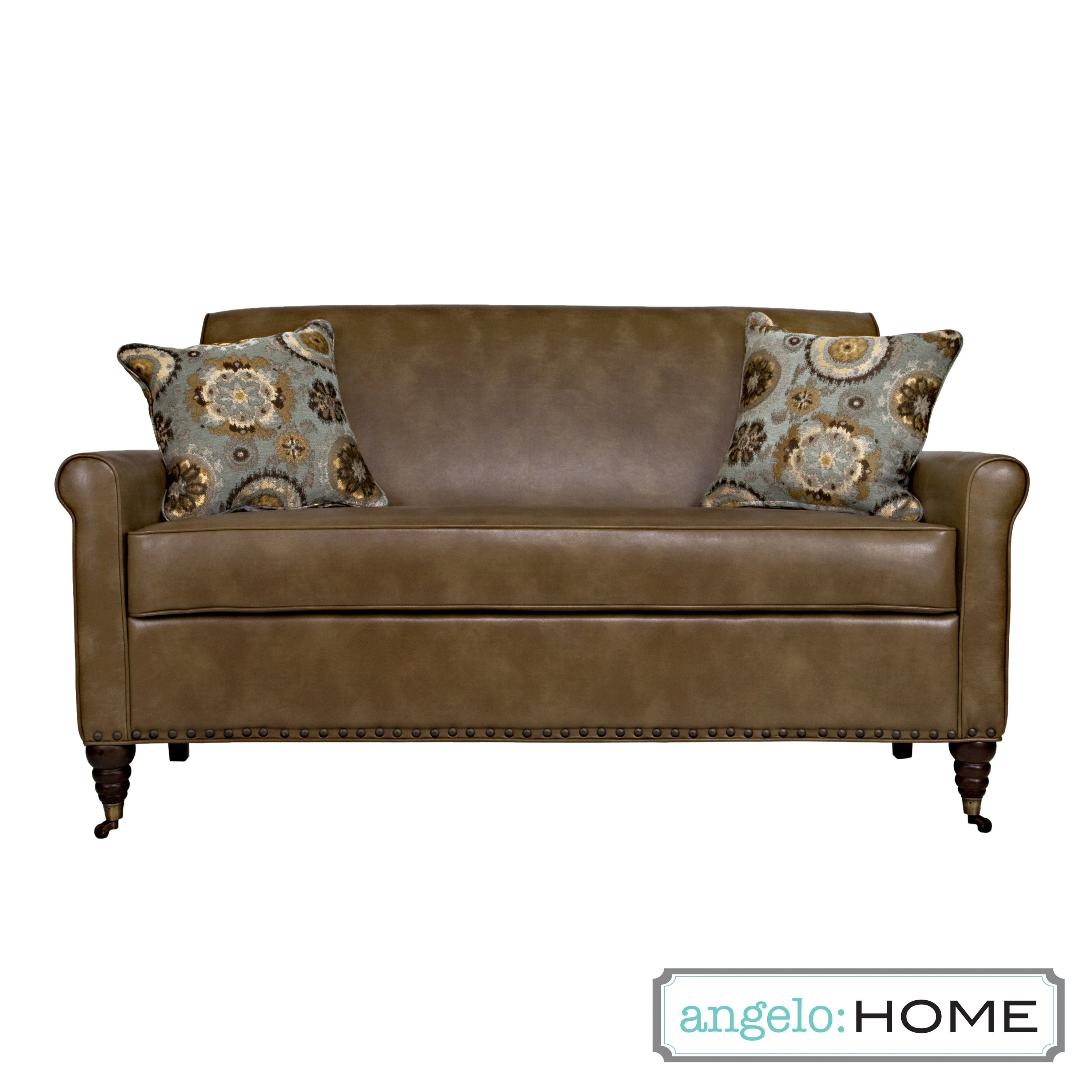 angelo:HOME Harlow Milk Chocolate Brown Renu Leather Sofa