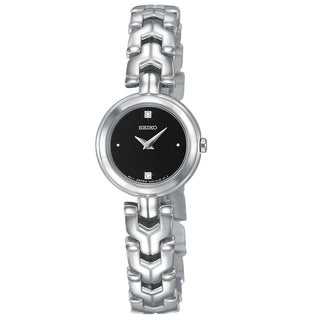 Seiko Women's SUJF35 Diamond Black Stainless Steel Watch