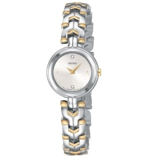 Seiko Women's SUJF37 Diamond Two-tone Quartz Watch