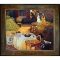 Claude Monet 'The Luncheon' Hand Painted Framed Canvas Art