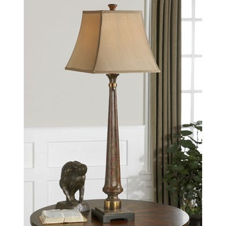 Rittana Resin Metal Fabric Floor Lamp