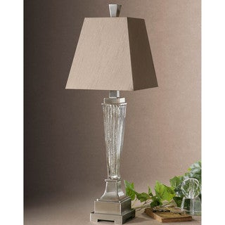 Canino Metal Glass Fabric Floor Lamp