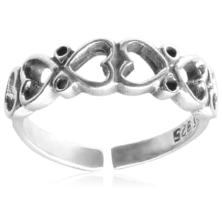Tressa Collection Sterling Silver Heart Toe Ring