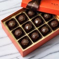 Champagne Chic Dark Chocolate Bonbons