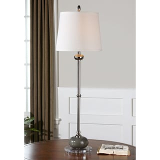 Andreis Ceramic Metal Fabric Acrylic Floor Lamp
