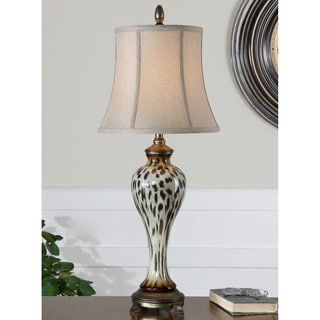 Malawi Resin Ceramic Metal and Fabric Floor Lamp