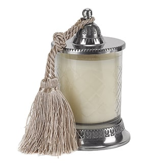 Covered Vanilla 6.5-inch Candle Jar with Tassel